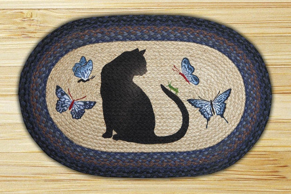Cat/Grasshopper Oval Patch Rug
