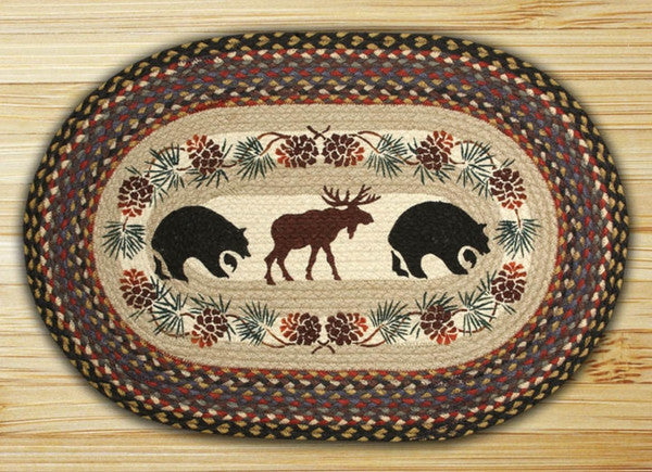 Bear/Moose Oval Patch Rug