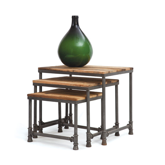Pipe Nesting Tables-Set of Three