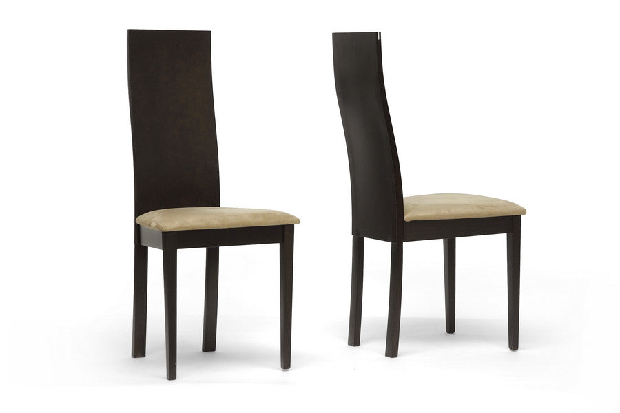 Baxton Studio Geneva Dining Chair in Set of 2