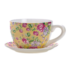 China Rose Teacup Planter
