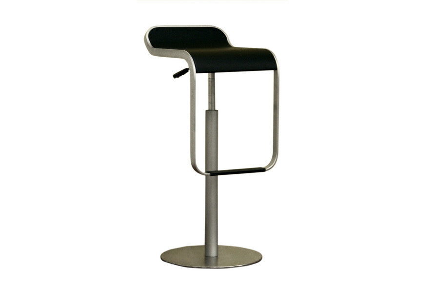 Baxton Studio Black Adjustable Bar Stool Set of 2