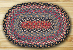 Burgundy/Blue/Gray Jute Placemat