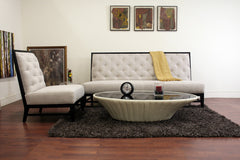 Baxton Studio Gray Linen Modern Sofa Set