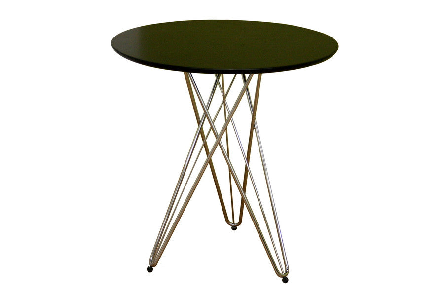 Baxton Studio Daimen Black Round Table