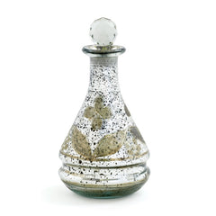 Tear Drop Etched Decanter-Set Of 2