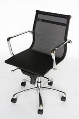 Baxton Studio Chrome frame and mesh seat office chair