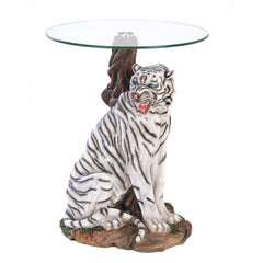White Tiger Accent Table