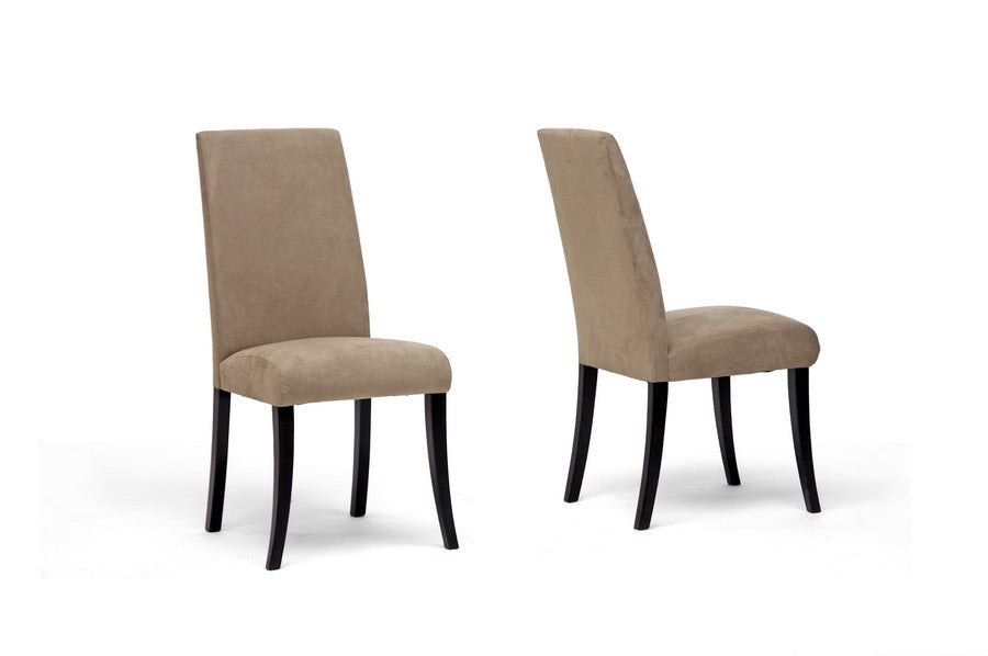 Baxton Studio Micro Fiber Dining Chair Set of 2