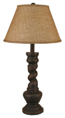 Brown Pot with Twist Table Lamp