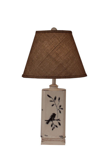 Stunning Rectangle Bird On Branch Pot Table Lamp
