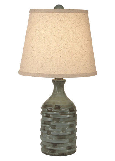 Amazing Slender Thatched Accent Lamp