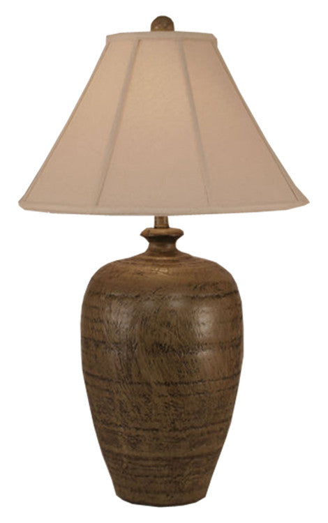 Brown Textured Pot Table Lamp