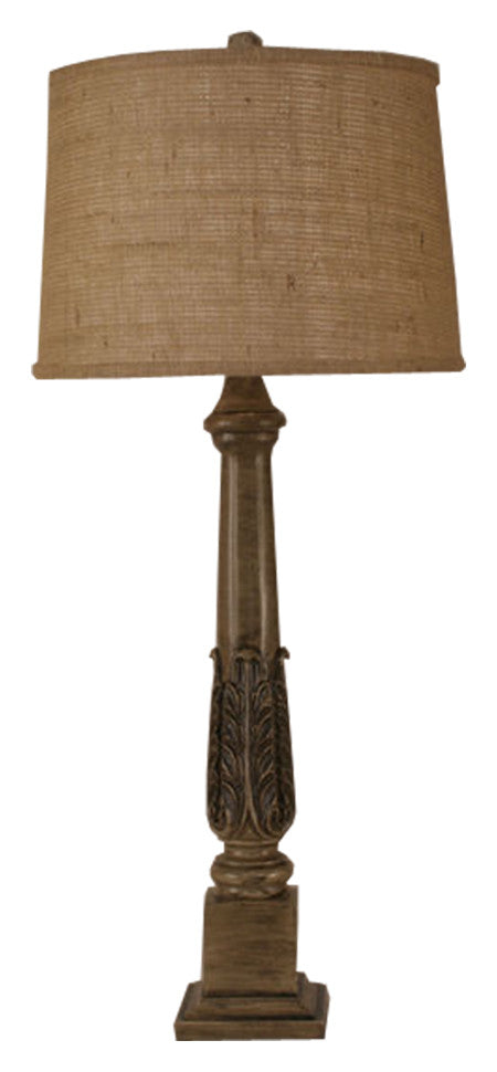 Acanthus Leaf Pot Table Lamp