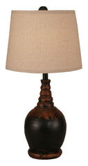 Aged Black Shade Table Lamp
