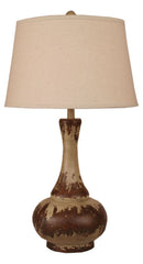Aged Cottage Pot Table Lamp