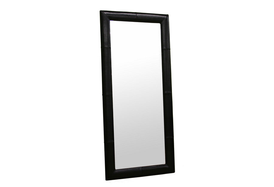 Baxton Studio Floor Mirror with Leather Frame