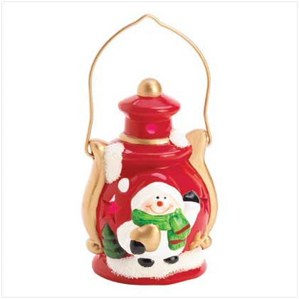 Mini Snowman Light Up Lantern