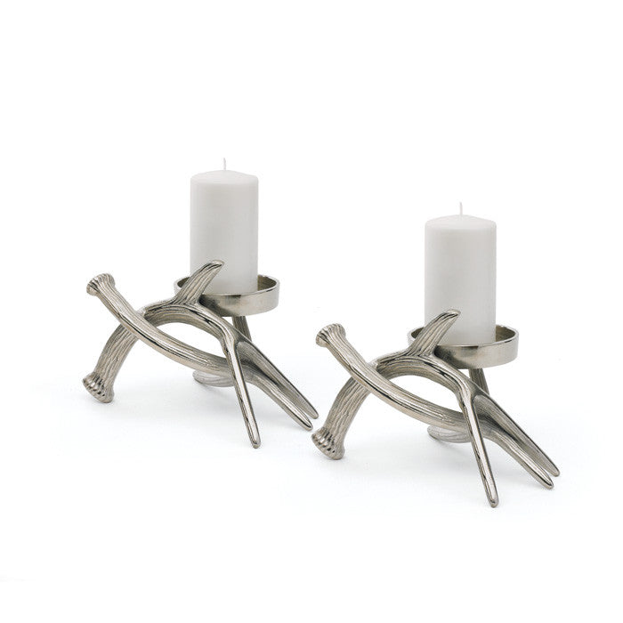 Hunt Style Pillar Holders-Set of Two