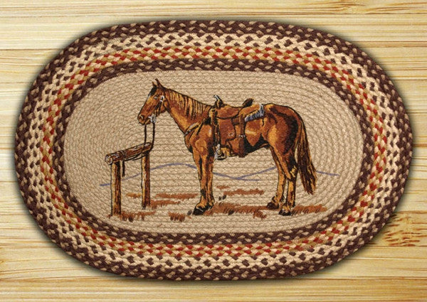 Horse Oval Patch Rug