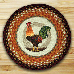 Rooster Printed Chair Pad