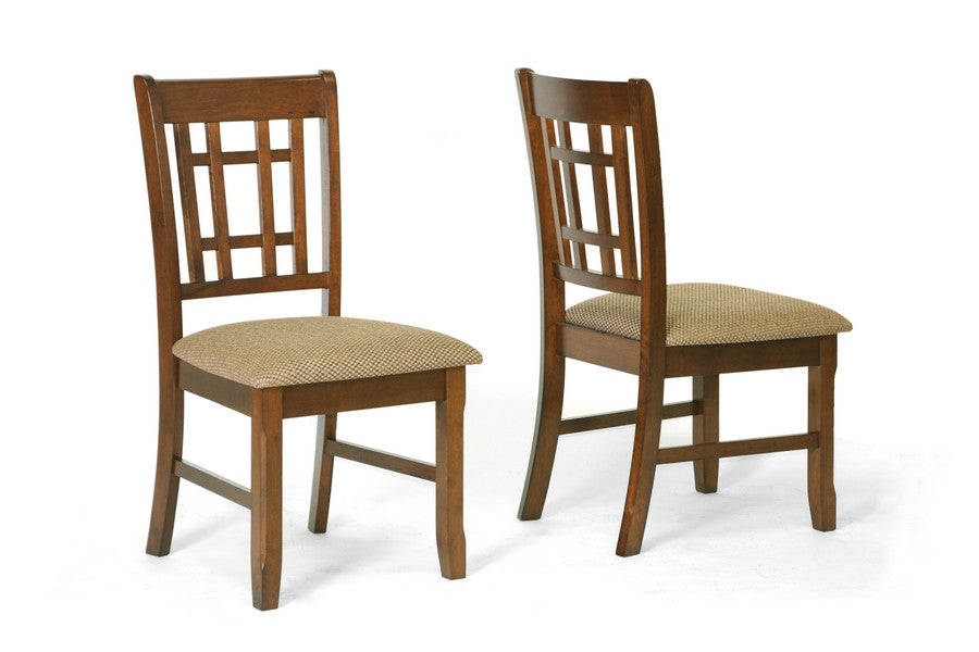 Baxton Studio Megan Dining Chair in Set of 2