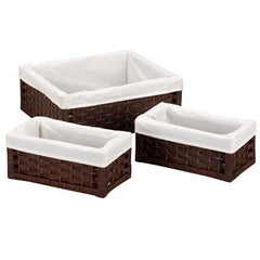 3-pc Paper Rope Utility Basket Set