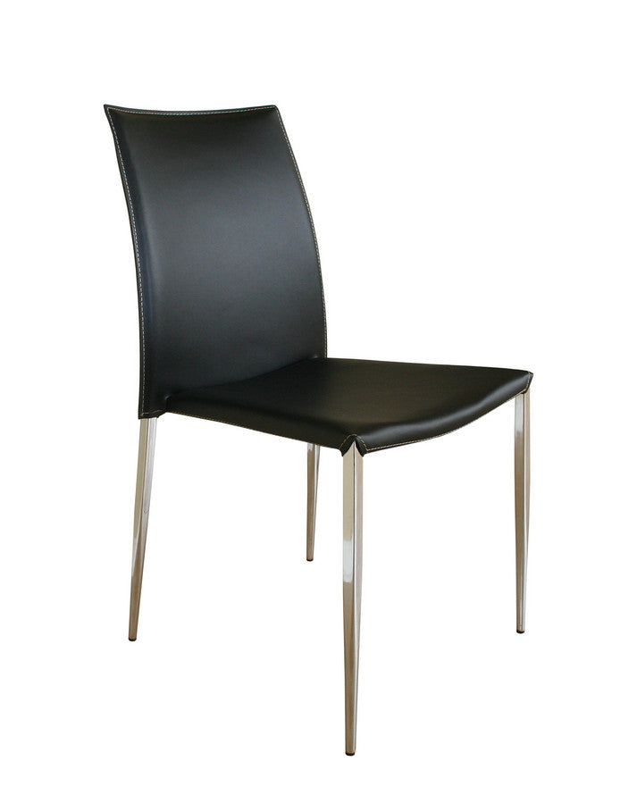 Baxton Studio Benton Black Leather Dining Chair