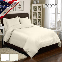 1200TC 4 PC DUVET SET IN DIFFERENT COLORS