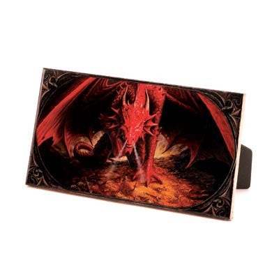 Crimson Dragon Art Tile