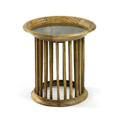 Wood Matchstick Side Table