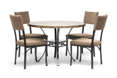 Baxton Studio Rhea Brown 5-Piece Modern Dining Set