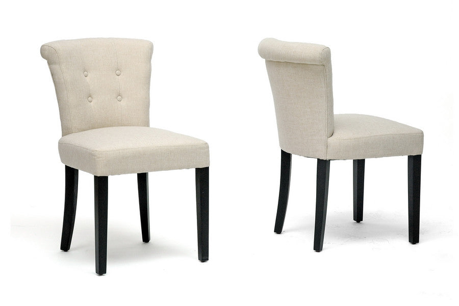 Baxton Studio Philippa Dining Chair in Set of 2