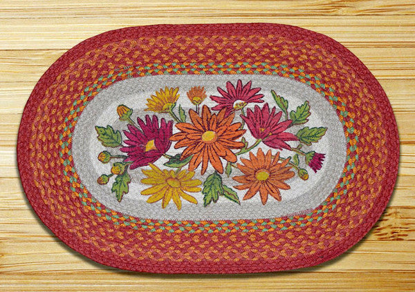 Mums Oval Patch Rug