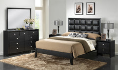 Baxton Studio Carolina Black 5-Piece Bedroom Set