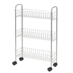 Modern Slimline 3-Shelf Utility Cart
