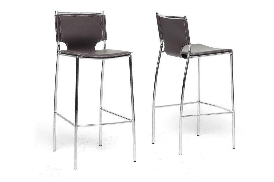 Baxton Studio Montclare Bar Stool in Set of 2