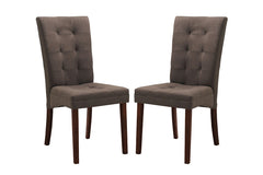 Baxton Studio Anne Fabric Dining Chair in Set of 2