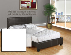 Anzy Leather Platform Bed with Slats In Different Colors And Sizes
