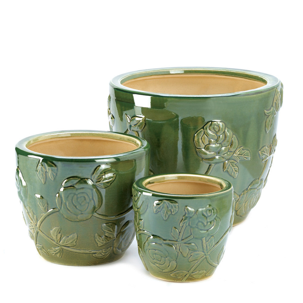 Tea Rose Garden Planter Trio