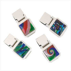 Modern Art Money Clips 4 PK