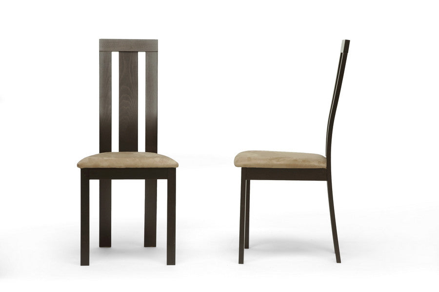 Baxton Studio Verona Modern Dining Chair in Set of 2