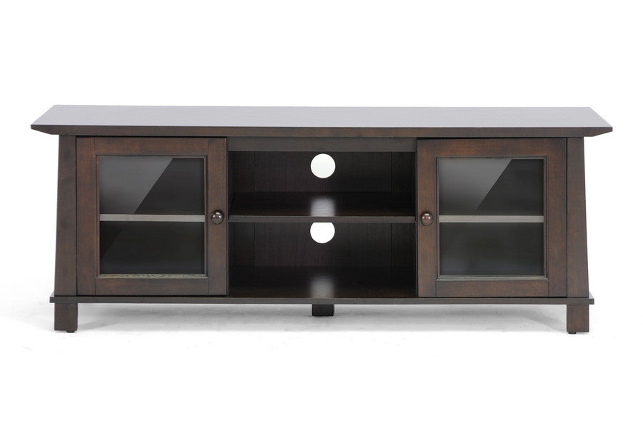 Baxton Studio Havana Brown Wood TV Stand