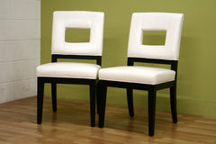 Baxton Studio Faustino Leather Dining Chair Set of 2