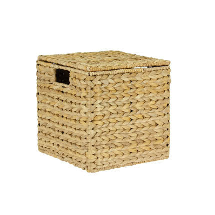 Nested Banana Leaf Wicker Storage Boxes
