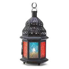 Black Multi Color Lantern