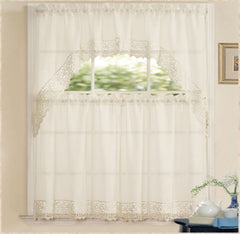 Isabella, Complete Tier & Swag Set, Kitchen Curtain Set