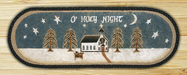 O'Holy Night Oval Patch Runner