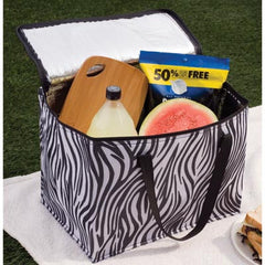Zebra Print Large Cooler Bag