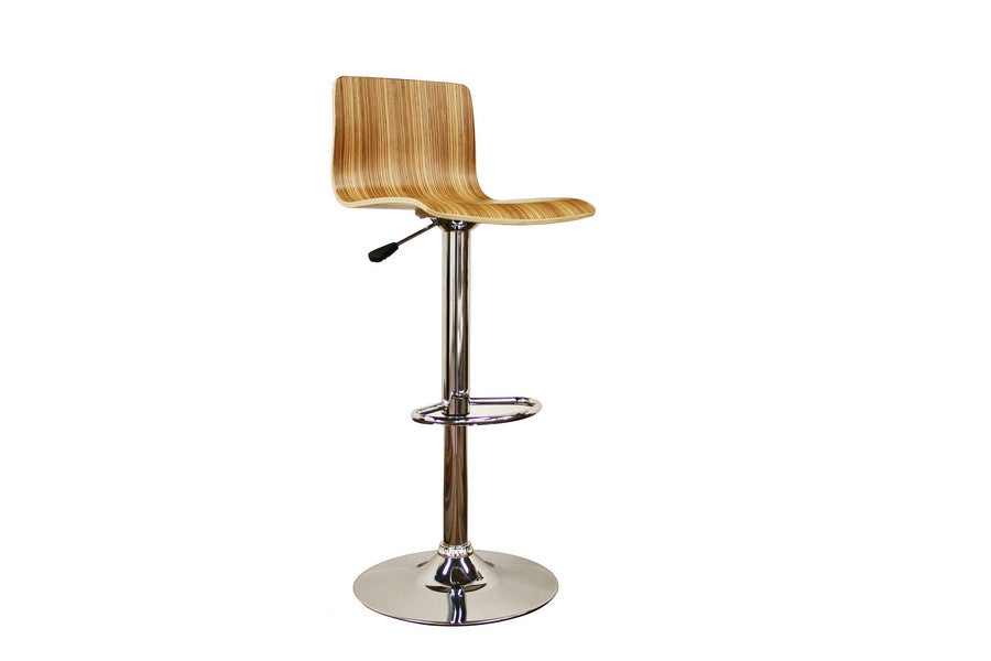 Baxton Studio Lidell Wood Bar Stool